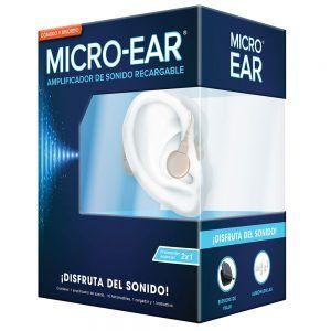 2 micro ear amplificador de sonido sordera leve o moderada