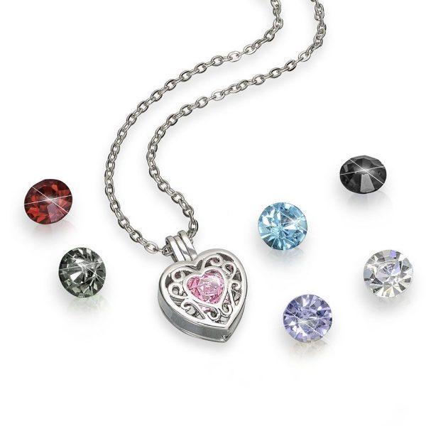 Collar Corazon Ivanna Collection Cristales swarovski