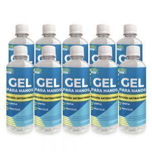 Gel antibacterial instaclear 10 piezas
